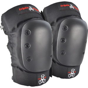 Triple Eight KP 22 Heavy Duty Skateboarding Knee Pads Pair Small 6081 Black $48.34