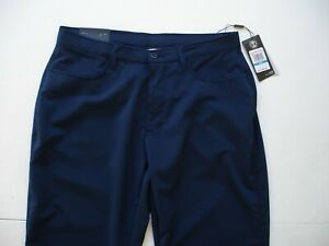 NWT Under Armour Golf Casual Pants Mens 34 36 x 32 Navy $41.55