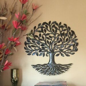 Decorative Tree of Life with Roots Wall Hanging Mounted Sculpture Handmade  $79.00