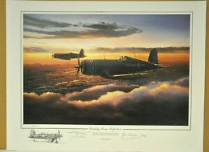 HEADING HOME REFLECTIONS by Rick Herter signed by 3 Marine ACES