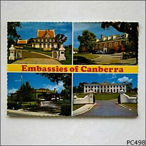 Embassies of Canberra Thai Japanese South African U.S.A. 1979 Postcard P498