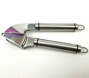 Stainless Steel 9-inch Mincing Garlic or Ginger Press with Scraper