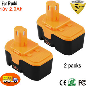 2Pack Replace Battery for Ryobi 18V ONE+ P100 P102 ABP1801 13022 ABP1803 18 Volt