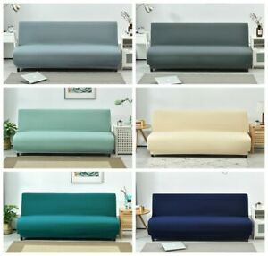 Universal Armless Sofa Bed Cover Folding Modern seat slipcovers stretch covers
