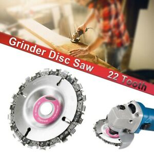 Angle Grinder Disc 22 Tooth Chain Saw Blade For Wood Carving Cutting Chainsaw 4