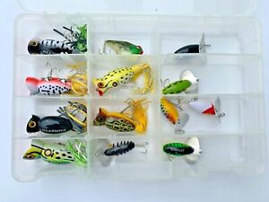 13 Ct Arbogast Hula Popper JitterBug Top Water Lure Combo Assortment Ships Free