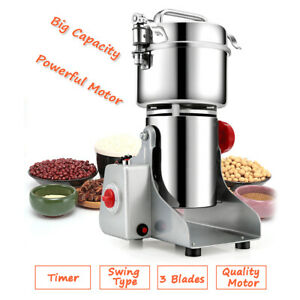 Multipurpose Grinder Mill 2500W 700g Grains Overload Protection Cereals Spices