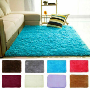 S X L Fluffy Rugs Anti-Slip SHAGGY RUG Soft Carpet Mat Living Room Floor Be