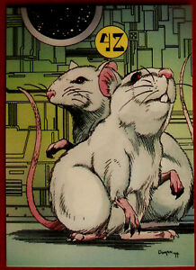 HITCHHIKER#x27;S GUIDE TO THE GALAXY Card #61 THE MICE CARDZ 1994