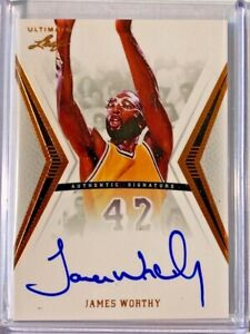 2012 LEAF ULTIMATE BASKETBALL AUTO: JAMES WORTHY AUTOGRAPH L.A LAKERS $69.00