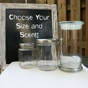 EARTHY SCENTED CANDLES! CHOOSE YOUR CUSTOM SIZE/SCENT! (FREE GIFT)