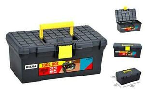 MEIJIA Portable Tool Storage Box, Organizers With Foldable Latches And Large