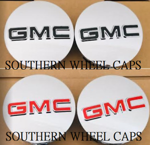 GMC 83mm CHROME CENTER CAPS 2014 2019 Sierra Limited & Yukon  XL 20 22 WHEELS