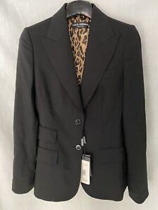 Dolce & Gabbana Turlington Two-button Jacket Black Women's Sz IT38US2