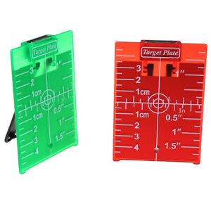 1PCS inch cm Magnetic Laser Target Card Plate For Green Red Laser LeveNWUS