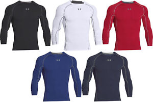 Under Armour HeatGear Compression Mens Long Sleeve Shirt 1257471 FREE SHIPPING $28.99