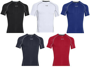 Under Armour HeatGear Compression Men's Short Sleeve Shirt 1257468 FREE SHIPPING $19.99