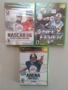 3pc XBOX Football amp; Nascar 06 Games SEALED Fever Arena