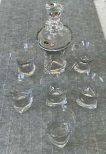 Bohemia Top Quality Crystal Whiskey Set - 23oz Decanter and 6 Tumblers Glasses