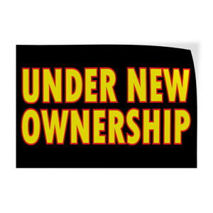 Decal Stickers Under New Ownership Business Vinyl Store Sign Label $12.99