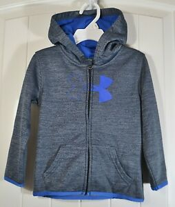 NWT BOYS KIDS TODDL UNDER ARMOUR GRAY ZIP FULL HOODIE JACKET SZ 2T, 3T, 4, 5, 7 $18.00