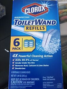 Clorox Cleaner Disinfecting Toilet Wand Refills Box of 6 Pack Cleaning Action N