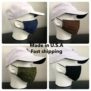Handmade Face Protection Washable Reusable 2 layers Cotton Pocket/Wire USA MADE