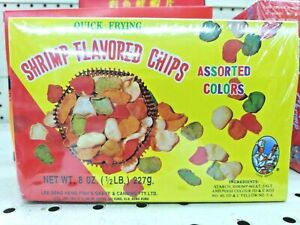 Quick Frying Shrimp Flavored Chips Assorted Colors 8 OZ Free shipping