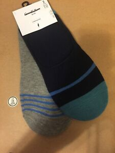 Goodfellow amp; Co Mens Liner Socks 7 12 Blue And Gray 2 Pairs $6.00