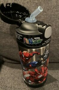 MARVEL UNIVERSE THERMOS FUNTAINER 12OZ/355ML BLACK BOTTLE - BRAND NEW