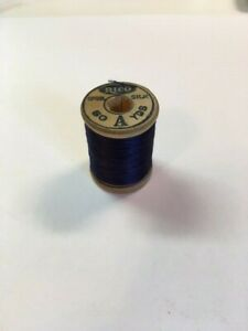 Antique Vintage Thread Wooden Spool Rico Silk $6.99