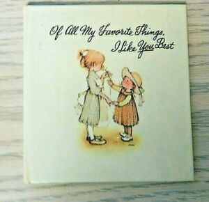 Vintage Of all my favorite things I like you best pocket book for little girls $5.99
