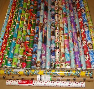 HARD TO FIND GIFT WRAP WRAPPING PAPER ROLLS NEW $11.99