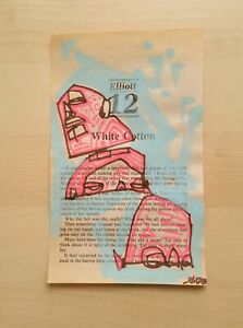 Small Drawing 6.75quot; Original Art Modern OUTSIDER GRAFFITI Contemporary Indie EAO $33.00