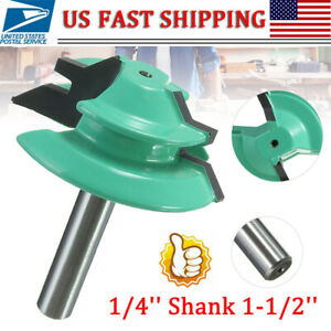45 Degree 1/4'' Shank 1-1/2'' Lock Miter Router Bit Woodwork Tenon Cutter Tools