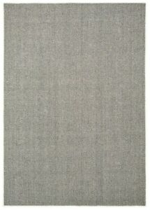 SILVERSTONE HERRINGBONE SLATE Hand Made Flat Woven Rugs with OFFER