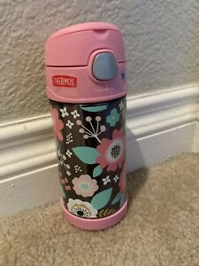 THERMOS FUNTAINER PINk WATER BOTTLE 12OZ/355ML - FLORAL  (NEW)