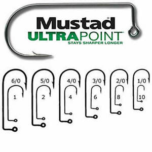 MUSTAD 32833NP BN ULTRA POINT2X STRONG 90 DEGREE JIG BEST SELLING HOOK ON PLANET