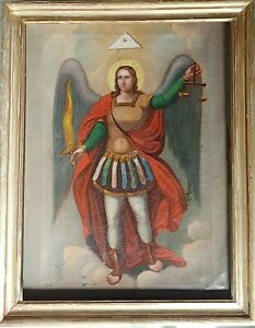 ANTIQUE FINELY PAINTED RUSSIAN ICON OF ST.MIHAIL ST.MICHAEL RARE $1455.00
