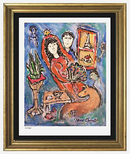 Marc Chagall Signed Hand Numbered Ltd Ed quot;Bride in Parisquot; Litho Print unframed $99.99
