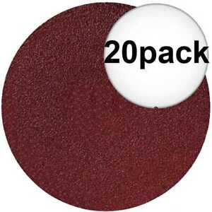 Sait 50001 20pk 4quot; x 5 8quot; 36 Grit Resin Fiber Disc for Sanders and Grinders New