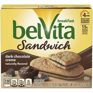 belVita Dark Chocolate Breakfast Biscuits 5 Packs 8.8 Oz.