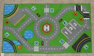 Kids Play Carpet with Streets and Neighborhood. 30quot; x 52quot;