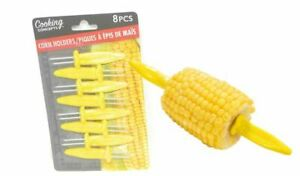 8 Pcs Jumbo Corn Holders Reusable Corn Holders BBQ Corn On the COB Holders New