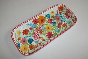 The Pioneer Woman Melamine Sunny Days/Coral Serving Tray