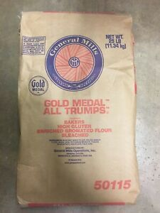 GOLD MEDAL ALL TRUMPS HIGH GLUTEN FLOUR 25 LBS GREAT FOR BREAD AND PIZZA