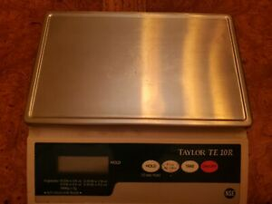 Taylor Precision Digital Portion Control Scale - TE10R Used and For Parts