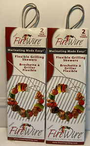 FireWire Flexible Grilling Skewers Lot Of 2 Packages 4 Skewers Total  NEW