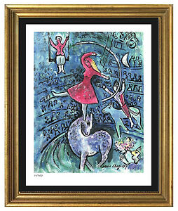 Marc Chagall Signed Hand Numbered Ltd Ed quot;Circus Girlquot; Litho Print unframed $99.99