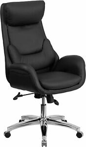 Flash Furniture High Back Black LeatherSoft Executive Swivel Office Chair